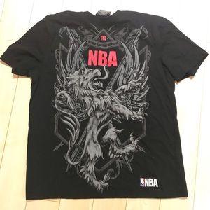 Authentic nba tshirt black men's size large